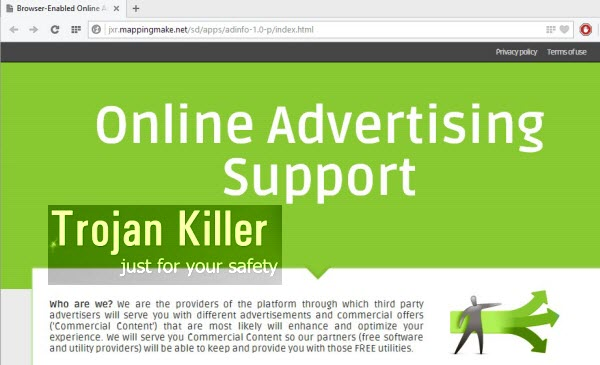 Online Advertising Support Ads