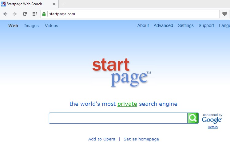 Startpage Web Search browser hijacker (Start Page by ixquick)