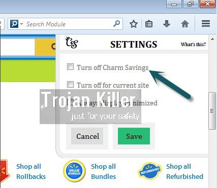 Charm Savings adware