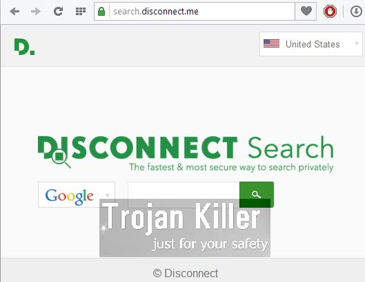 Disconnect Search browser hijacker