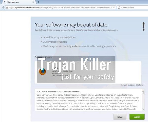 opensoftwaredownload.com pop-up