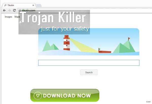 Tikotin Search browser hijacker