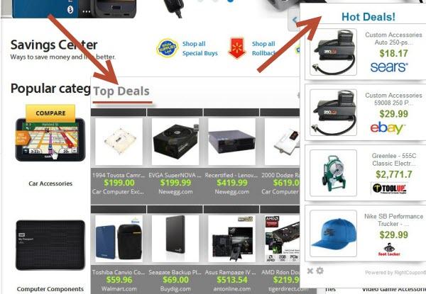 Top Deals (Hot Deals) adware
