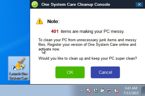 One System Care Cleanup Console