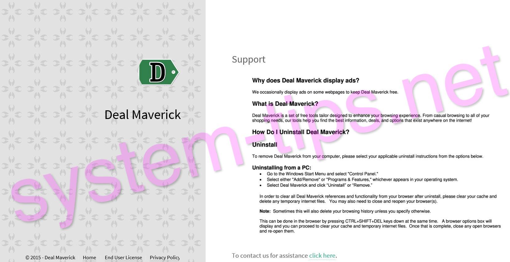 Deal Maverick adware
