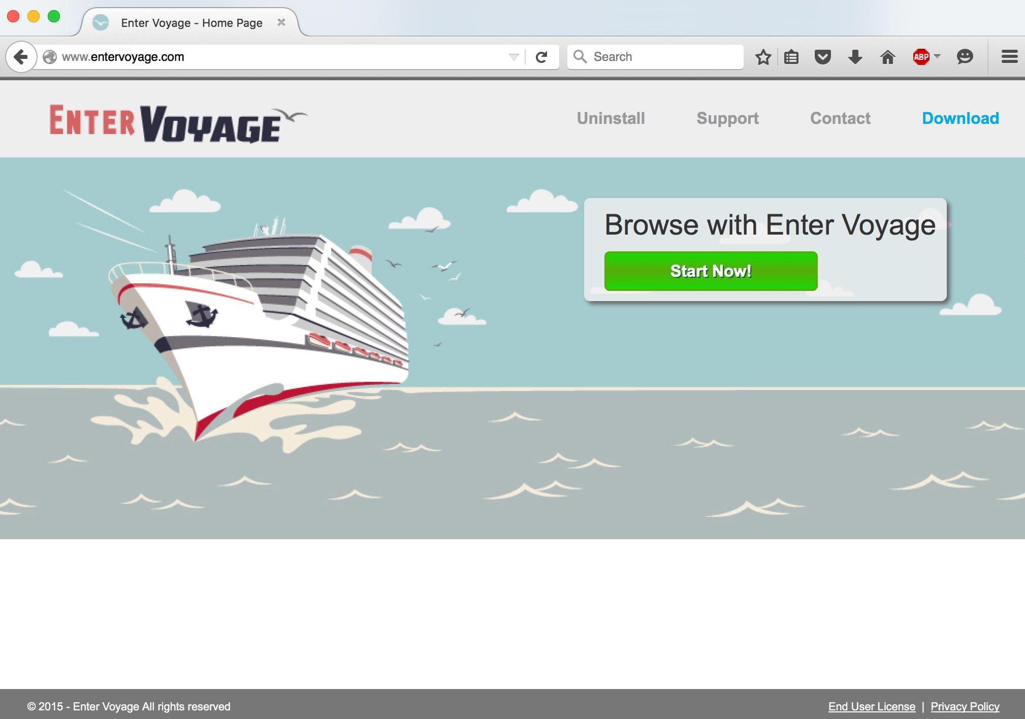 Enter Voyage adware