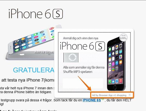 Browser App v1 shopping adware