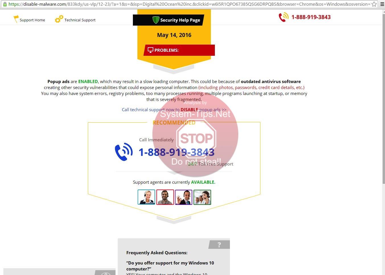 Disable-malware.com virus