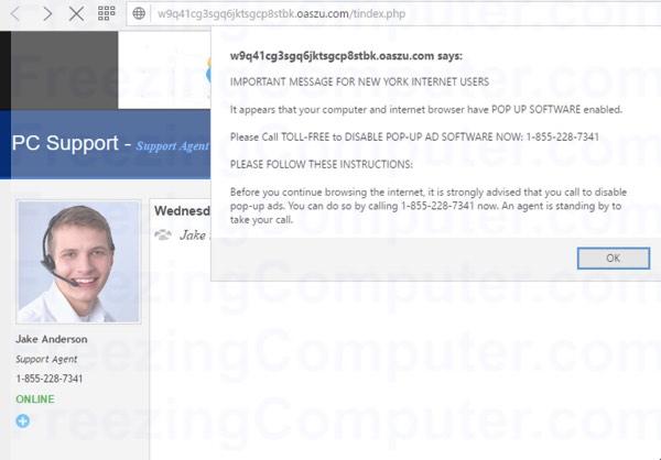 oaszu.com virus alert