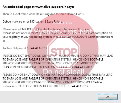 alive-support.in scam