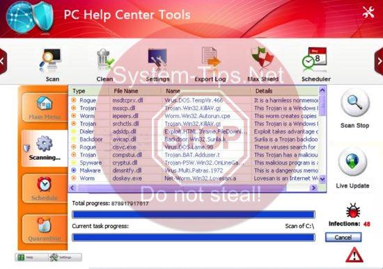 PC Help Center Tools virus