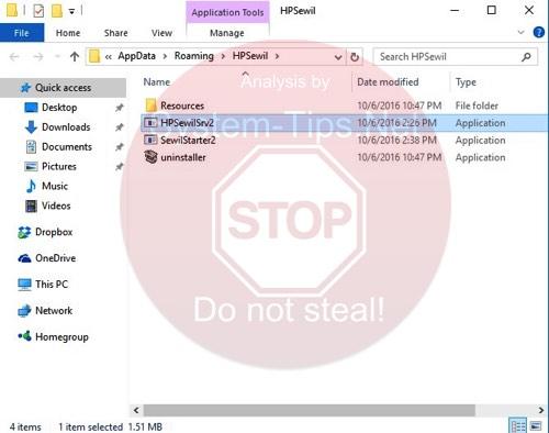HPSewilSrv2.exe virus