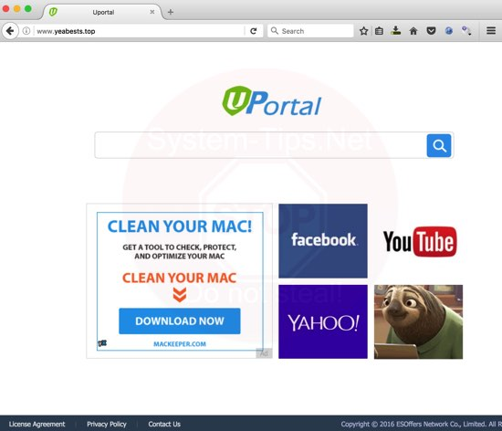 YeaBests.Top browser hijacker