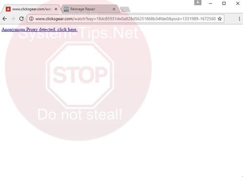 clicksgear.com virus