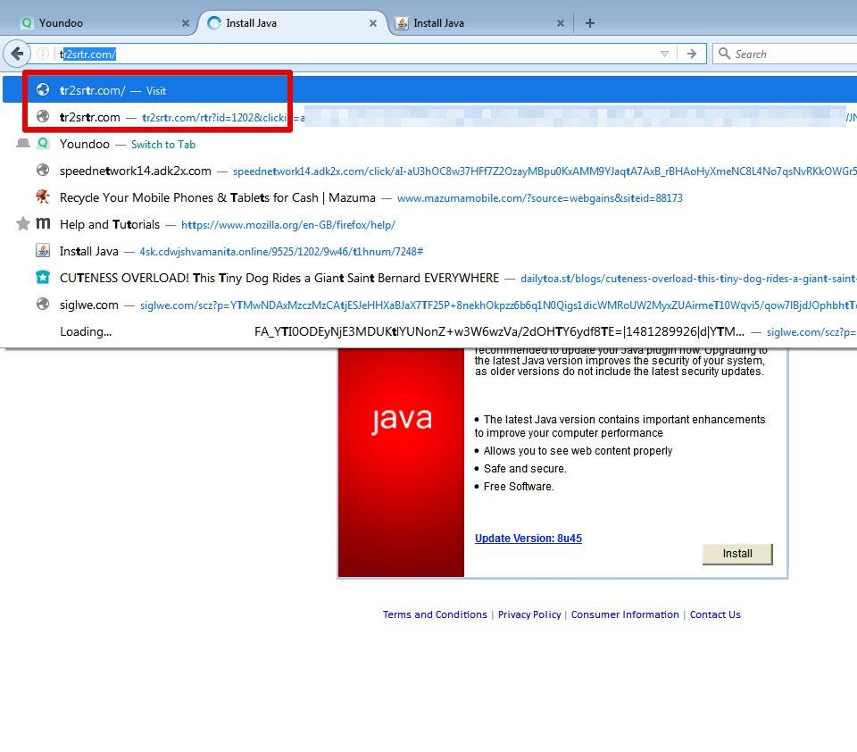 Tr2srtr.com redirect virus