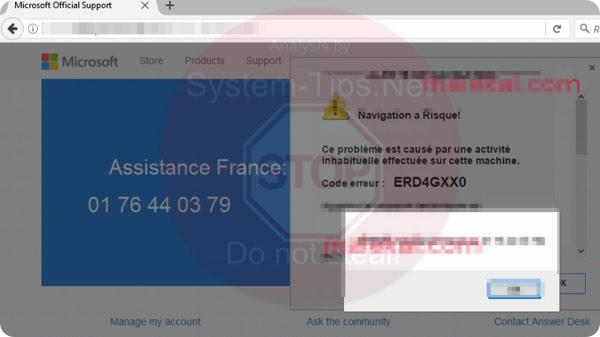 Code Erreur ERD4GXX0 01 76 44 03 79