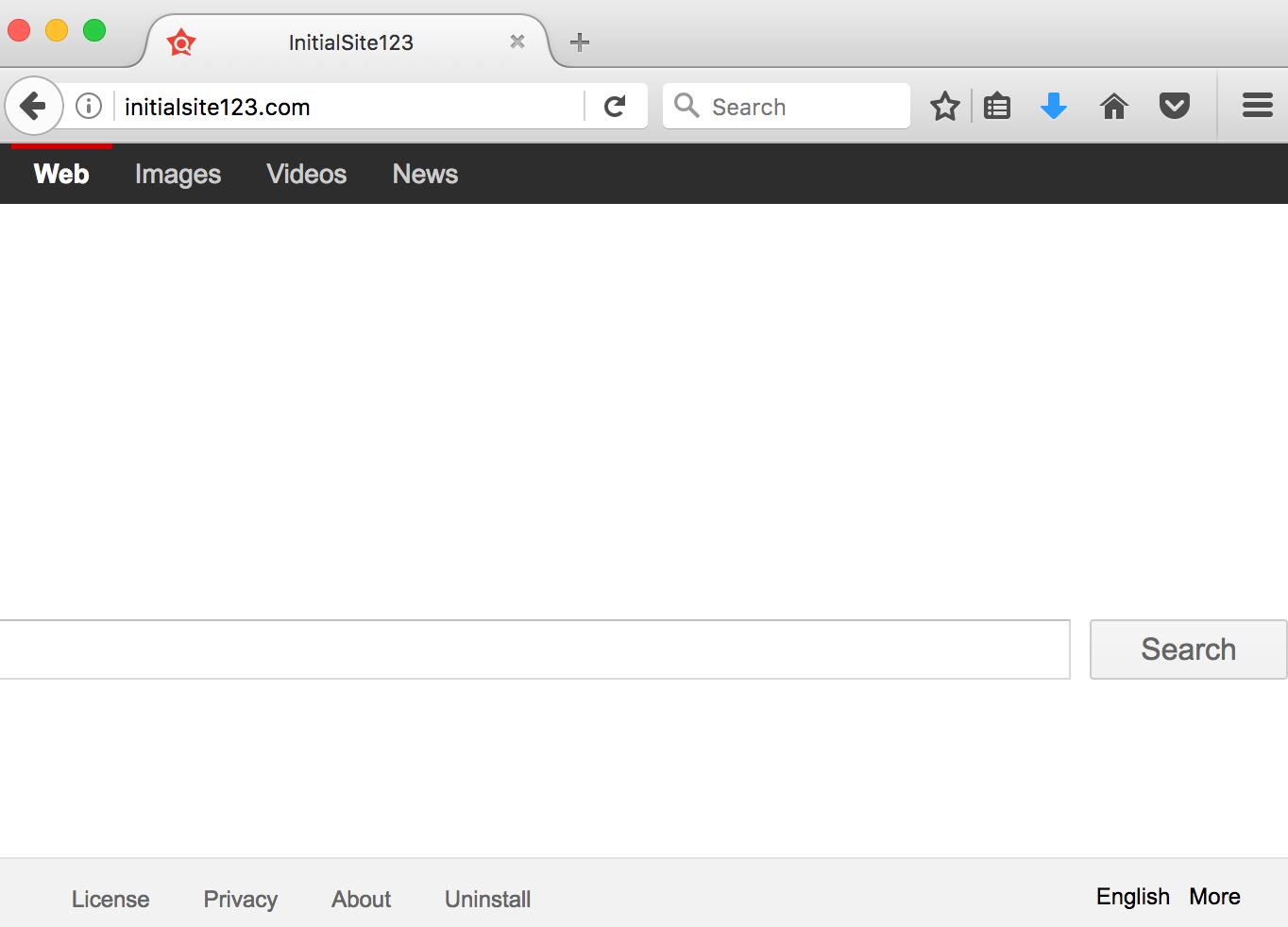 InitialSite123 browser hijacker