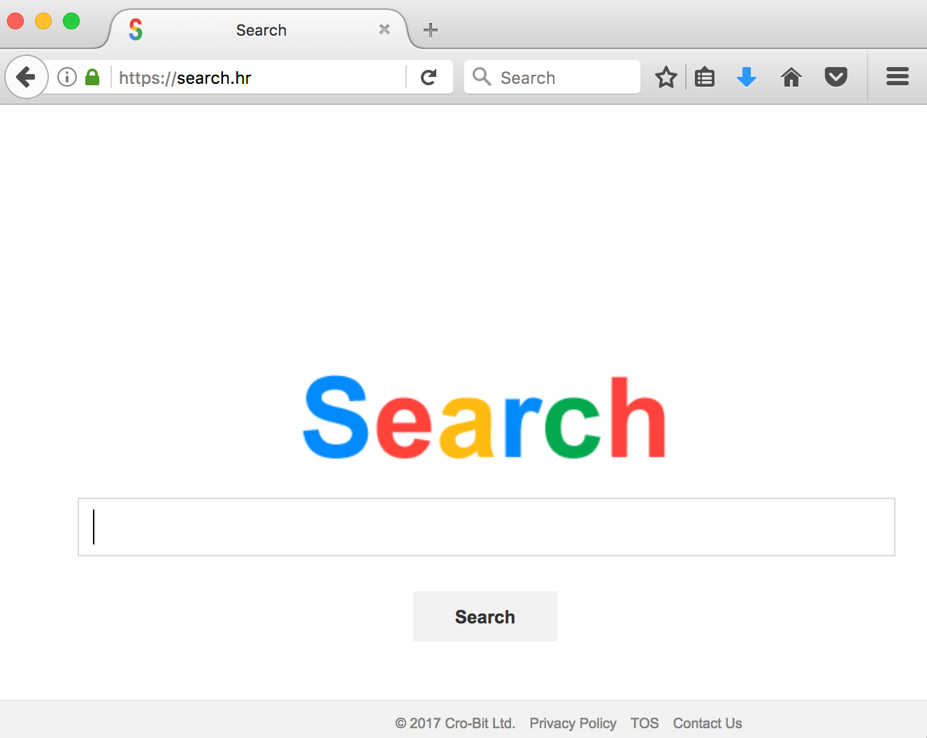 Search.hr browser hijacker