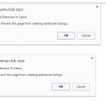 smumi.club Google extension alert
