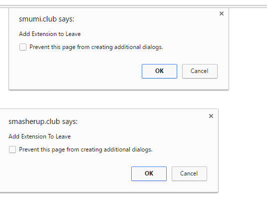 smumi.club Google extension alert