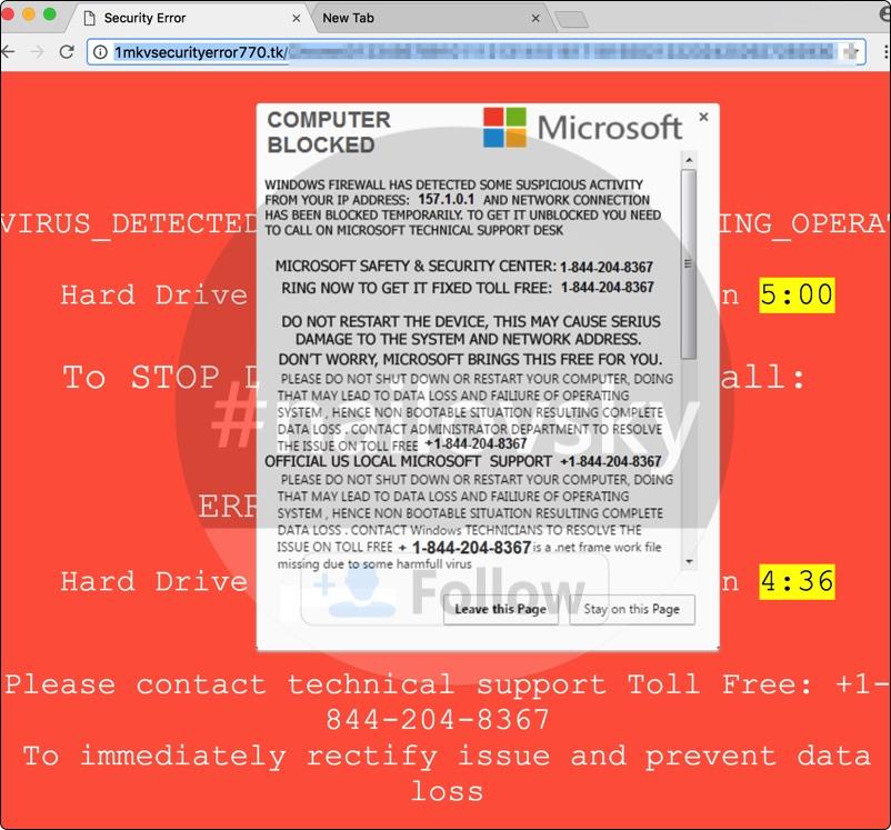Computer Blocked 1-844-204-8367