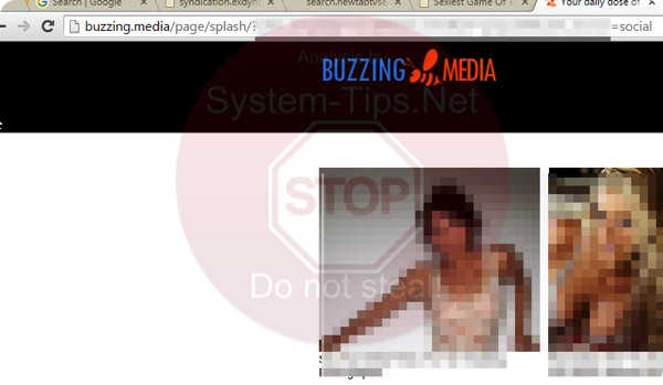 Buzzing.media pop-up virus