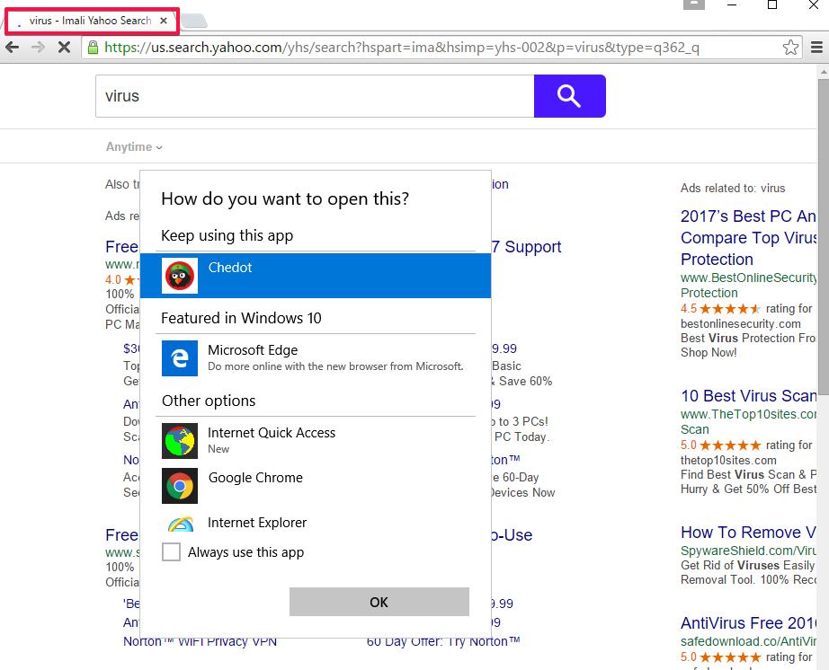 Imali Yahoo Search