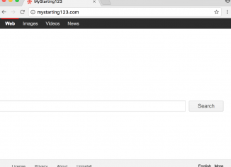 MyStarting123 browser hijacker