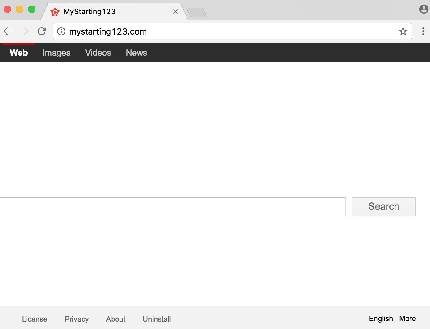 MyStarting123 browser hijacker