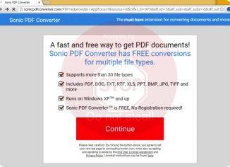 Sonic PDF Converter browser hijacker