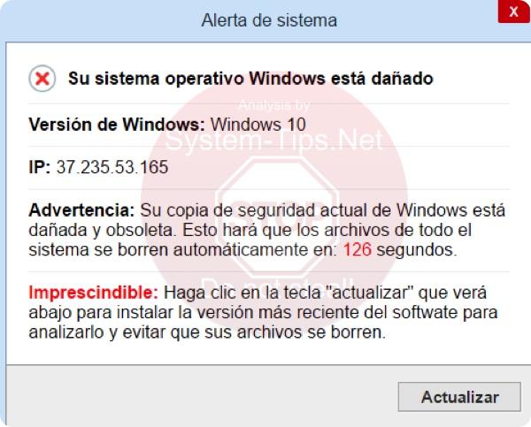 Su sistema operative Windows está dañado