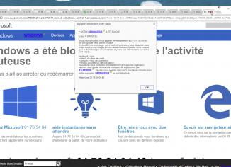 01 76 34 04 46 'Votre ordinateur a été blocké' pop-up scam