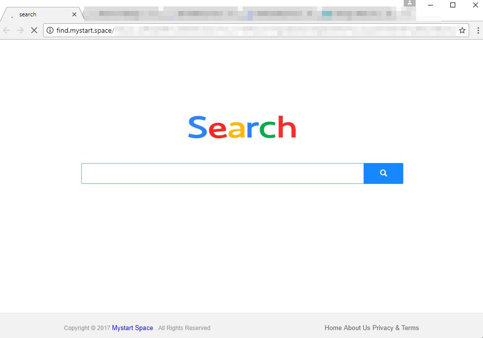 Find.mystart.space home page virus