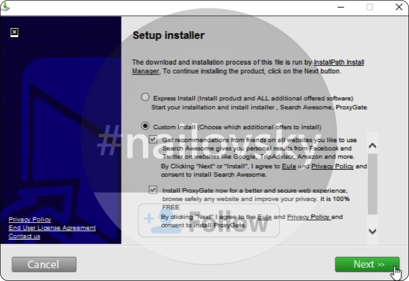 Search Awesome adware installation offer