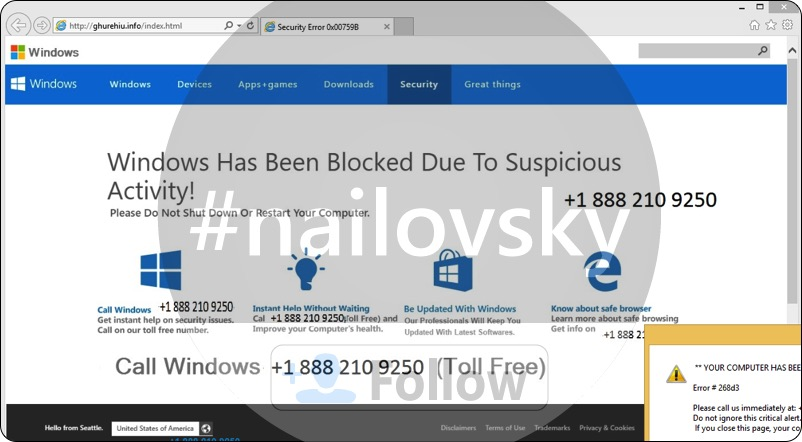 Security Error 0x00759B +1 888 210 9250 scam