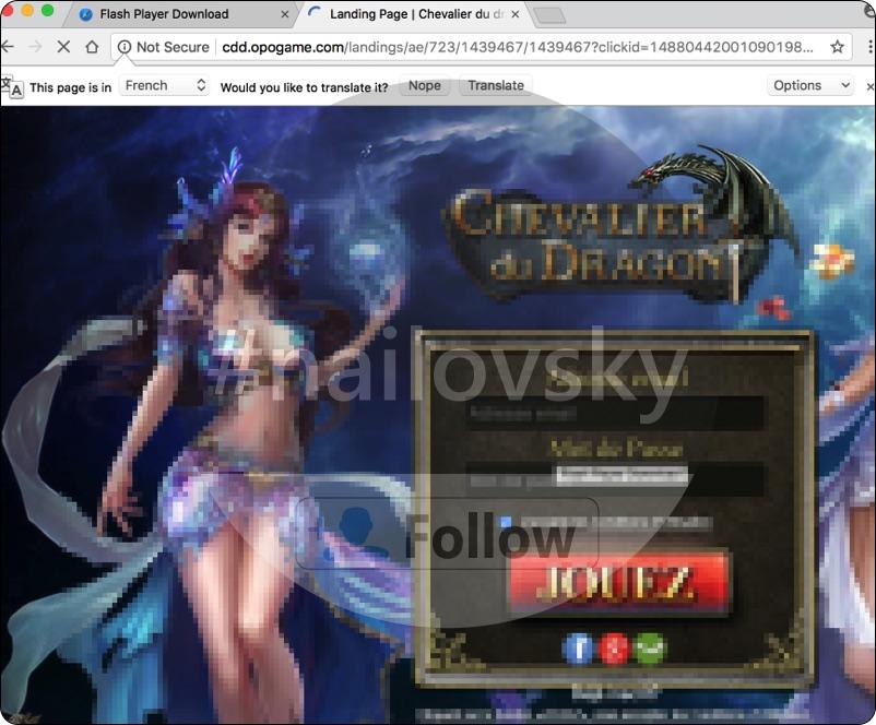 Cdd.opogame.com filthy game pop-up