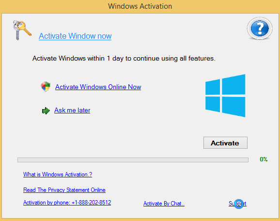 +1-888-202-8512 fake Windows Activation alert
