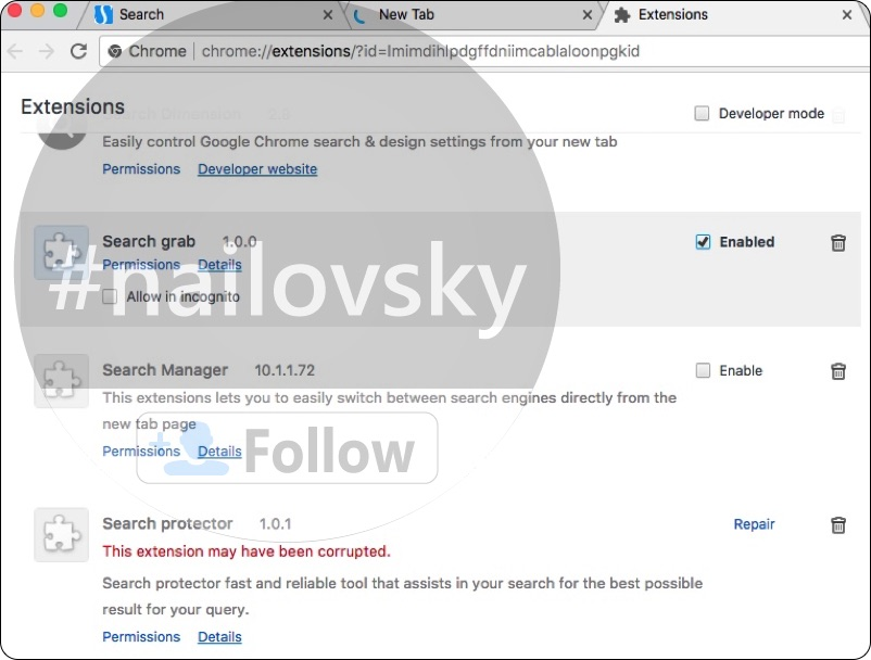 Searchsbay.com alert & Search Grab 1.0.0 extensionSearchsbay.com alert & Search Grab 1.0.0 extension