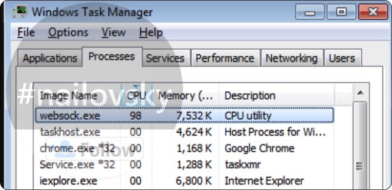 Websock.exe CPU Utility