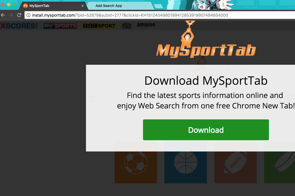Install.mysporttab.com pop-up