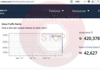 Suchsurveys.com ranking on Alexa