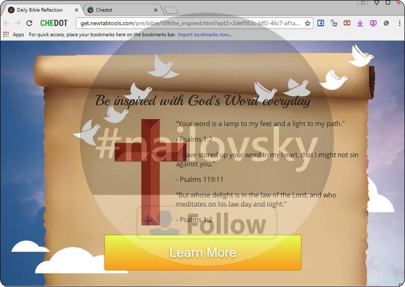Get.newtabtools.com browser hijacker
