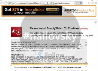 'Please Install SimplyWatch to Continue' pop-up