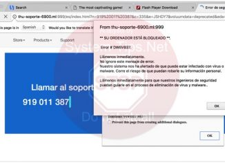 Thu-soporte-6900.ml 919 011 387 scam on screen