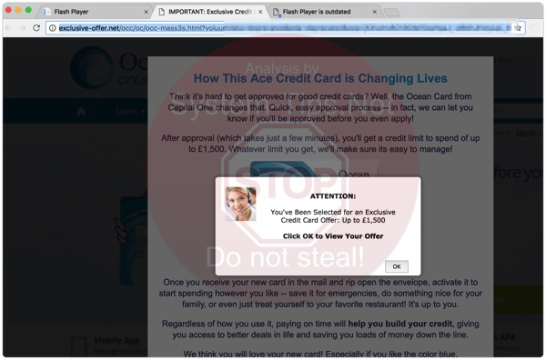 exclusive-offer.net pop-up alert