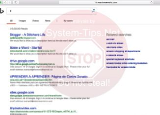 Searchnewworld.com redirection in browser
