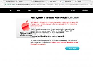 Static.newlightflash.bid Mac Secure scam