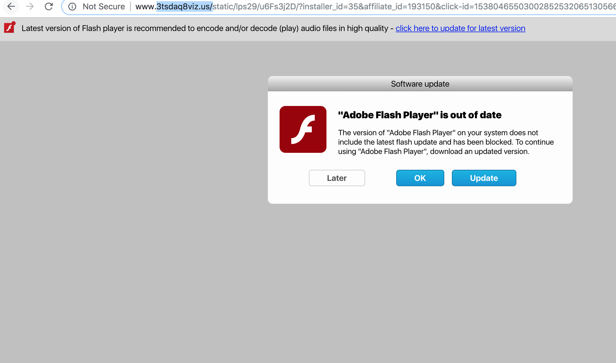 3tsdaq8viz.us fake Adobe Flash Player update