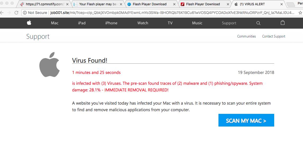 Job001.site (1) Virus Alert scam