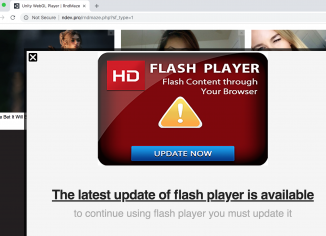 Ndev.pro fake Flash Player update alert